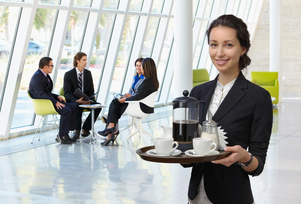 Обложка буклета о продаже кофе в офисы