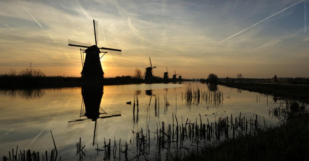 Утро в Киндердейке, Нидерланды