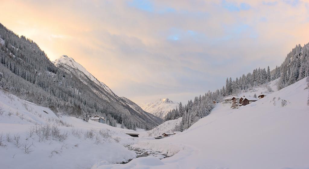 Зимнее утро в Тироле