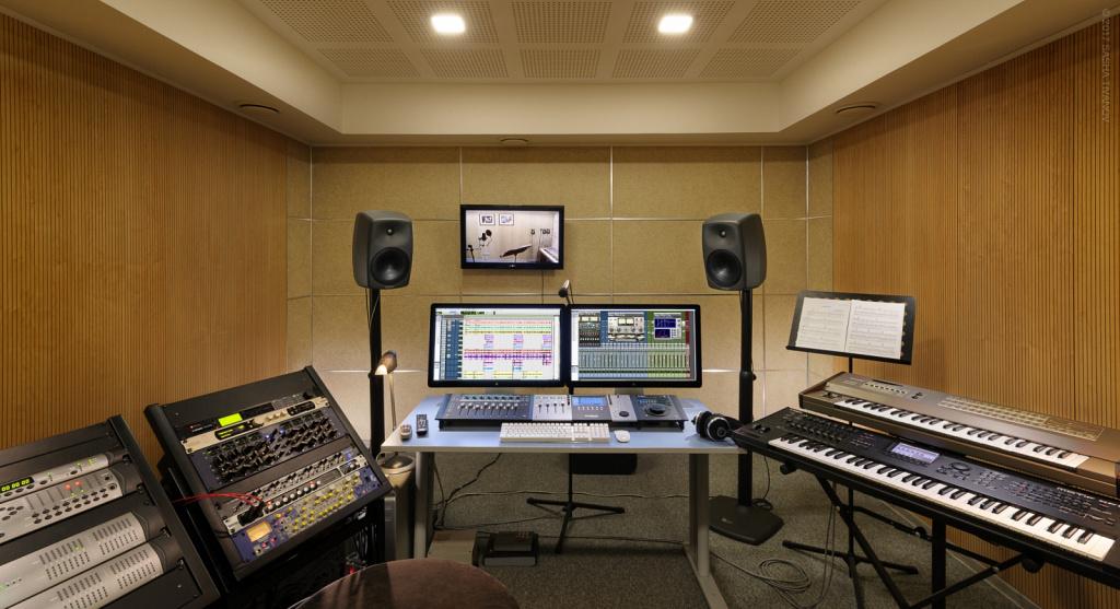 Интерьер студии звукозаписи