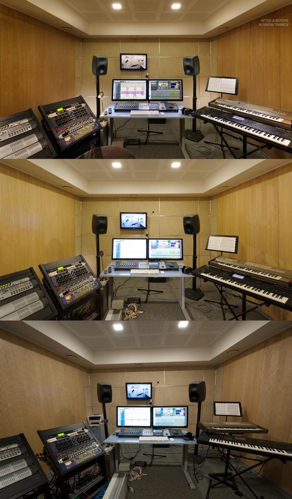 Интерьер студии звукозаписи. Интер