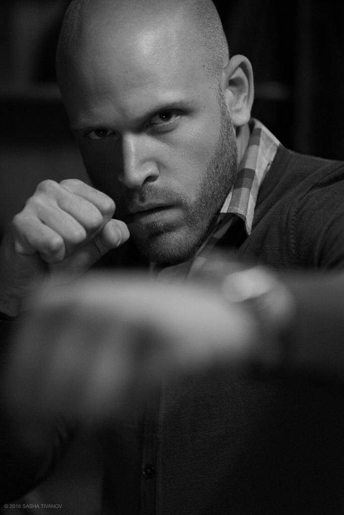 Man Portrait Fist Fight Strong