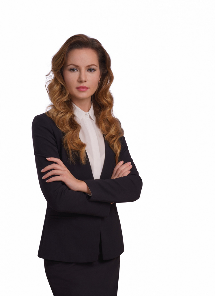 Бизнес-портрет на белом фоне
