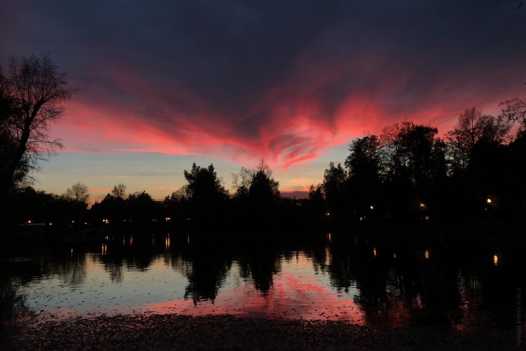 Закат в Парке Горького