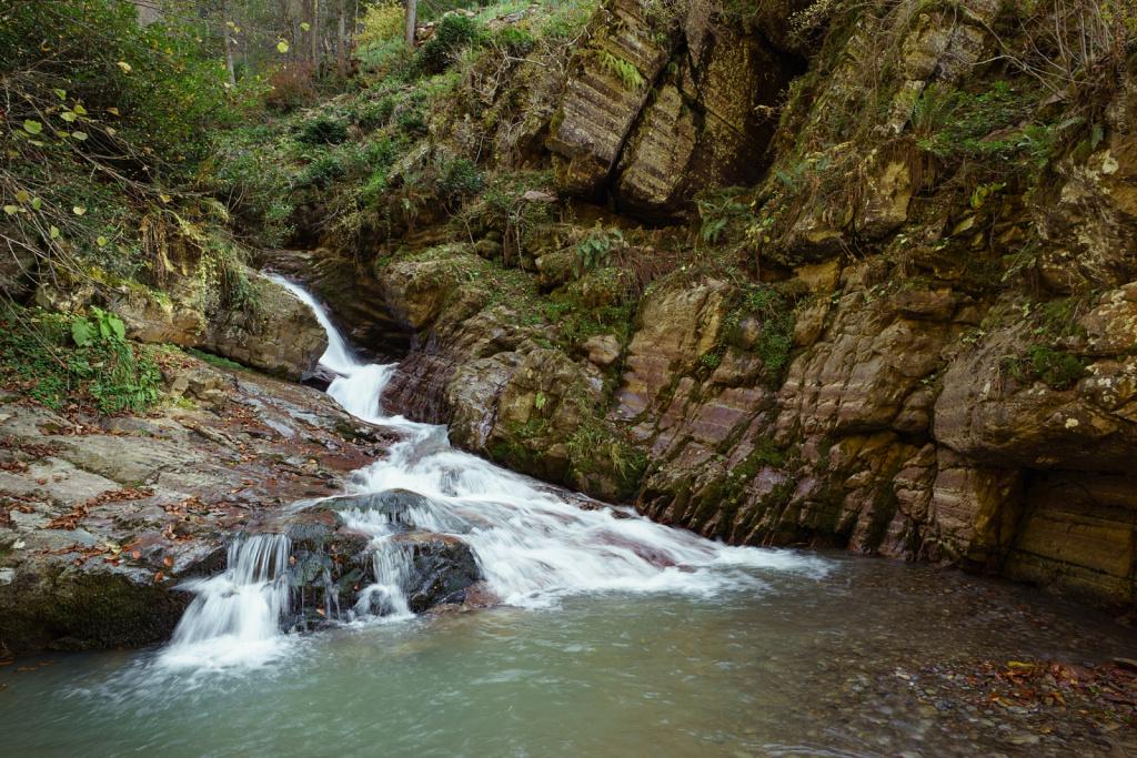 Водопад на р. Менделиха