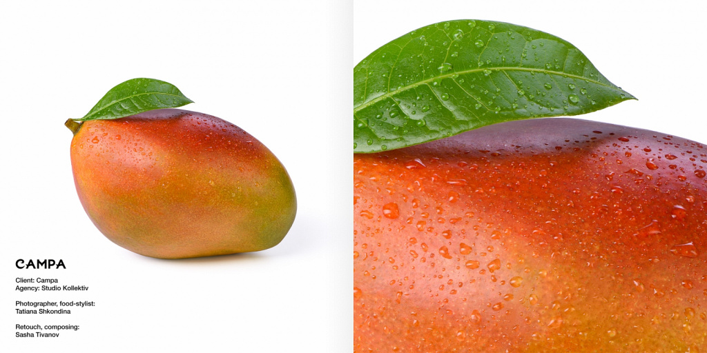 Манго, рекламная съёмка для соков