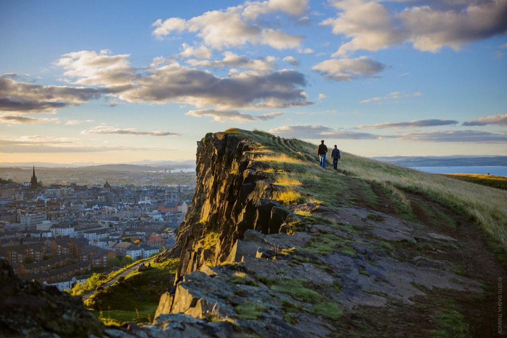 Эдинбург, вид с Седла Артура